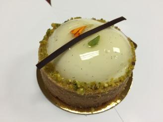 Pistachio Sour Cherry Tart