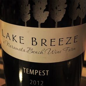 Lake Breeze Tempest 2012