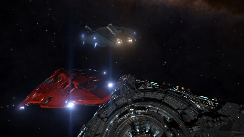 Cmdr Saganstein and I prepare to hunt the rings.